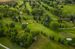 Golf Course Aerial Stock Image