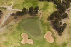Golf course aerial view Stock Photo