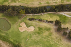 Golf course aerial view Stock Photos