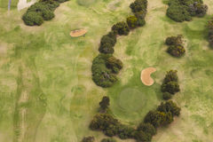 Golf course aerial view Royalty Free Stock Photos