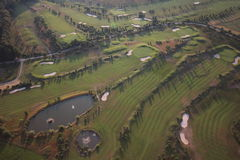 Golf course from air Royalty Free Stock Photography