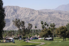Golf course at the ANA inspiration golf tournament 2015. RANCHO MIRAGE, CALIFORNIA - APRIL 02, 2015 : the golf course at the ANA inspiration golf tournament on Royalty Free Stock Photo