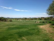 Golf Course In Arizona. Golf course in Scottsdale, Arizona at a local country club for people to play golf royalty free stock photos