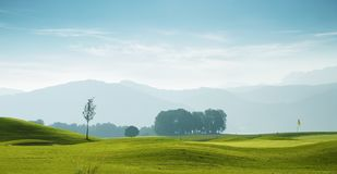 Golf course in Attersee royalty free stock photography
