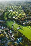 Golf course, Australia. Aerial view of Ryde Parramatta Golf Course and buildings in West Ryde, Australia Royalty Free Stock Photo