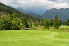 Golf course in Austria royalty free stock image