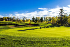 Golf Course in Autumn Stock Photography