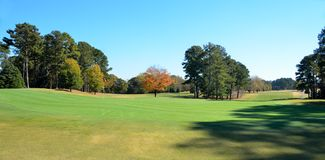 Golf course in Autumn royalty free stock photos