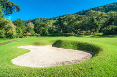 Golf Course in Bali. Bali Golf course shoot in the moorning time with the green on a sunny day in summer Royalty Free Stock Image