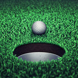 Golf course. Golf ball on grass , Golf Stock Image