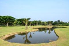 Golf course. A beautiful golf course in Chiang Mai, Thailand Stock Photos
