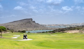 Golf course. A beautiful green grass golf course on the Island of Curacao Caribbean Stock Image