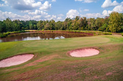 Golf course beautiful landscape Royalty Free Stock Photography