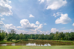 Golf course beautiful landscape. On sunny day Stock Images