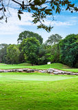 Golf course. Beautiful golf course on mayan riviera in Mexico Royalty Free Stock Photos