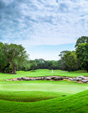 Golf course. Beautiful golf course on mayan riviera in Mexico Royalty Free Stock Photo