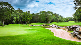 Golf course. Beautiful golf course on mayan riviera in Mexico Royalty Free Stock Photography
