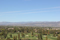 Golf Course. Beautiful Scenery of Golf Course and Mountain in Background Stock Photography