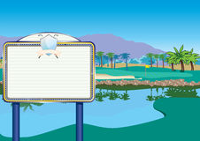 Golf Course with Billboard/Scoreboard Royalty Free Stock Images
