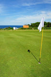 Golf course on Bornholm island. Denmark, Europe royalty free stock photography