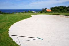 Golf course on Bornholm Island Stock Photo