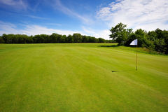 Golf course on Bornholm Island. Europe, Denmark stock images
