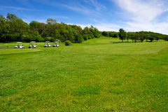 Golf course on Bornholm island. Denmark, Europe royalty free stock photos