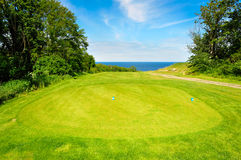 Golf course on Bornholm Island. Denmark, Europe stock photography