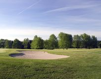 Golf Course Bunker. Landscape view of a Wisconsin golf course bunker. Big and deep Stock Photo