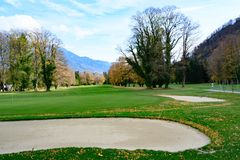 Golf course Bad Ragatz, Switzerland stock photos