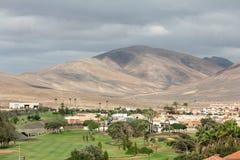 Golf course in caleta de Fuste on Fuertaventura Stock Image