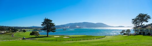 Golf course. California golf course with blue sky Royalty Free Stock Photos