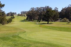 Golf course in California Royalty Free Stock Image