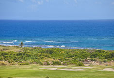 Golf course on the caribbean Stock Photos