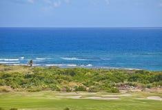 Golf course on the caribbean Stock Photos