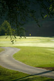 Golf Course and Cart Path Royalty Free Stock Photography