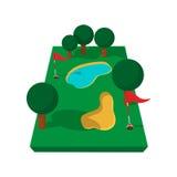 Golf course cartoon icon Royalty Free Stock Image