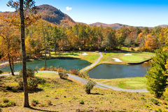 Golf Course in the Cashiers, North Carolina Royalty Free Stock Photography
