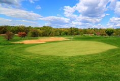Golf Course Cloudy Sky royalty free stock image