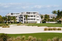 Golf Course Condos Royalty Free Stock Images