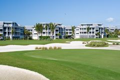Golf Course Condos Royalty Free Stock Photography