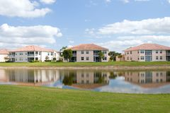 Golf Course Condos Royalty Free Stock Image