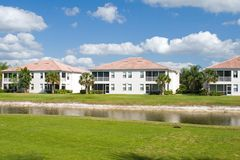 Golf Course Condos Stock Photography