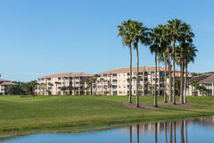 Golf course condos in Florida Royalty Free Stock Images