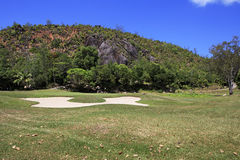 Golf course at the Constance Lemuria Resort Stock Photo