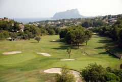 Golf course on the Costa Blanca Royalty Free Stock Photo