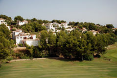 Golf course on the Costa Blanca Royalty Free Stock Photos