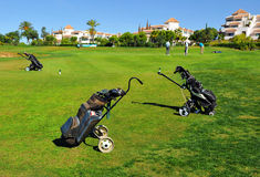 The golf course, Costa del Sol, Andalusia, Spain Stock Image