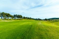 Golf course in the countryside. Stock Photography
