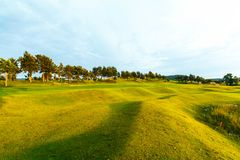 Golf course in the countryside. Stock Photo